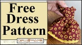 Today's tutorial shows you how to #sew an #autumn #dolls' dress @ ChellyWood.com