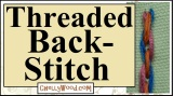 #Crafty threaded #backstitch #handEmbroidery w/ ChellyWood.com