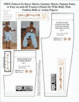 Let's sew #boxers for broad male #dolls or #actionfigures w/free #patterns @ ChellyWood.com