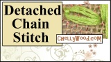 Learn the detached chain stitch for #embroidery #craft projects with #leaves @ ChellyWood.com