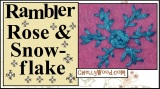 Rambler rose #crafty #embroidery stitch tutorial with #snowflake variation @ ChellyWood.com