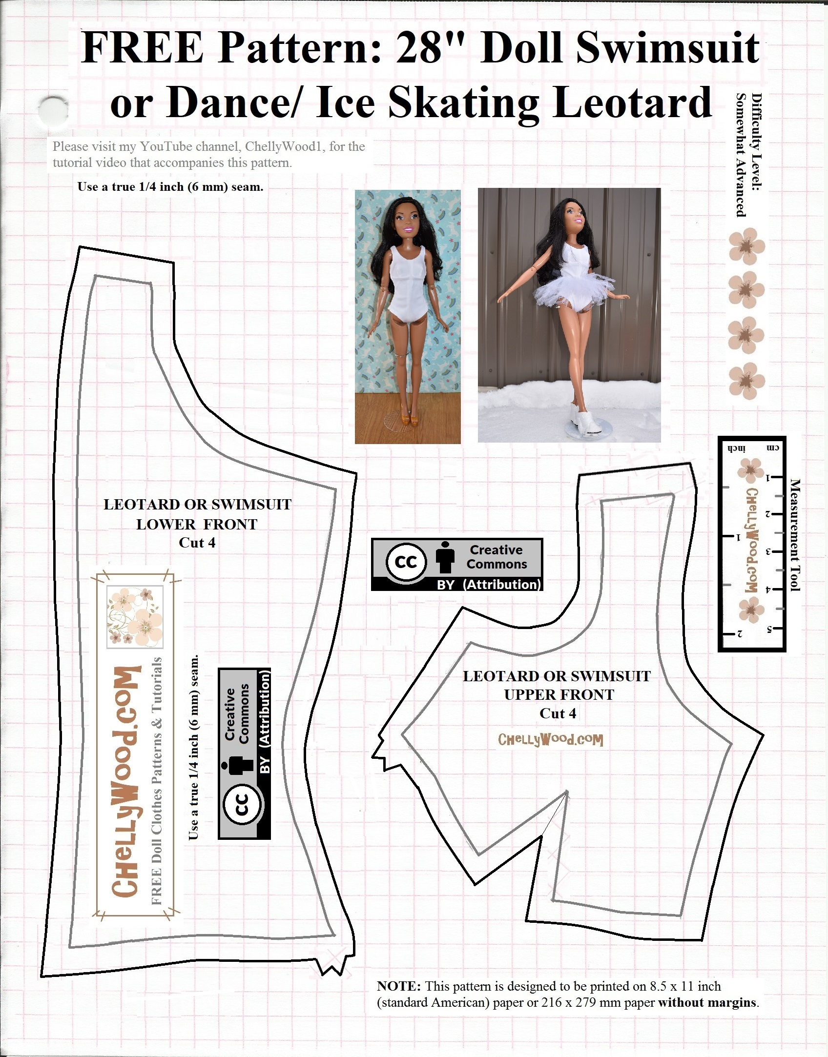 image relating to Barbie Doll Clothes Patterns Free Printable known as PDFpattern Wednesday: 28 Doll Dresses No cost swimsuit or