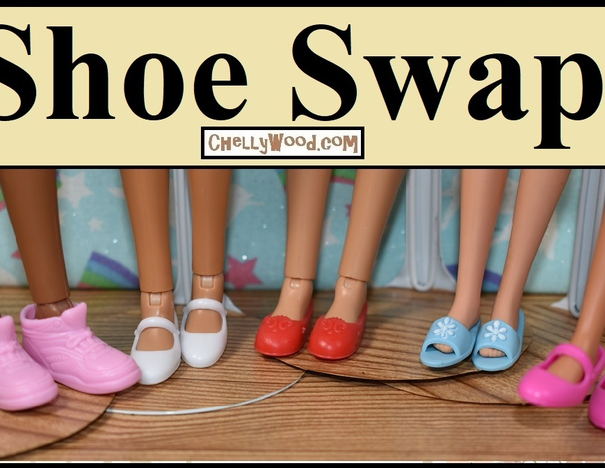 """This video header shows three Liv dolls, a vintage Francie, and a Tall Barbie wearing shoes called """"Little Extras"""" which were designed to fit Posable Barbies from the late 1990's and early 2000's. The video offers a shoe swap hack showing doll clothes designer Chelly Wood trying the """"Little Extras"""" shoes on twelve different dolls from different doll makers. This shoe hack /shoe swap is supposed to help people decide whether or not to buy """"Little Extras"""" shoes for their dolls. It also shows how this package of shoes can really benefit your collection."""