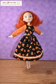 Click here for all the patterns and tutorials you'll need to help you make this outfit: https://chellywood.com/2017/10/31/free-halloween-dress-pattern-for-livdolls-and-other-11-dolls-chellywood-com/