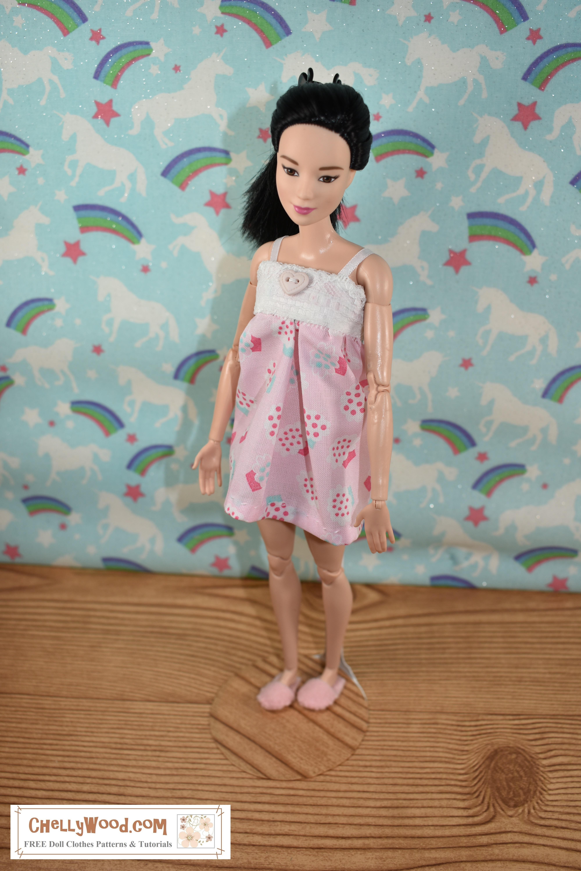 photograph regarding Free Printable Toddler Dress Patterns named Skipper Behavior Totally free Doll Apparel Models