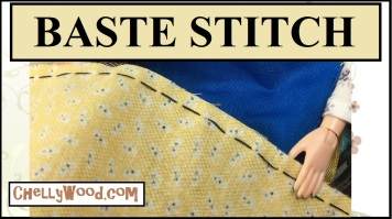 This YouTube video gives you basic instruction in how to do a baste stitch. It discusses how to baste stitch by hand, including how wide your baste stitches should be if you are pre-stitching before gathering a skirt for a doll dress. It also offers a brief suggestion for basting on a sewing machine, and how you should do some research to make sure your settings on your machine are correct for basting.