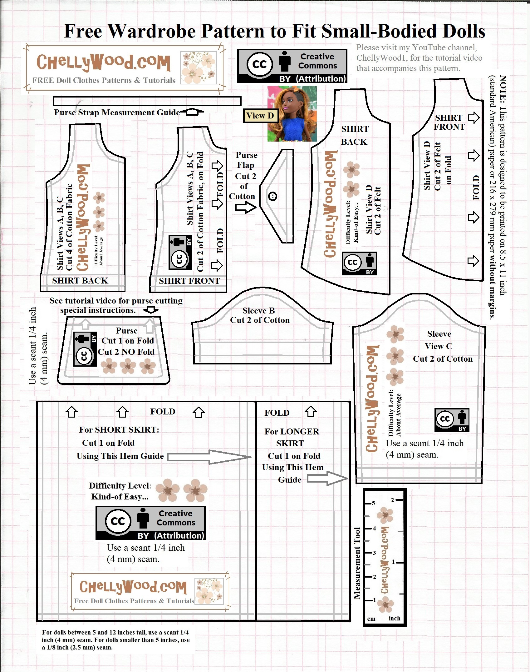 image about Free Printable Sewing Patterns Pdf called SewingBlogger Thursday: Absolutely free PDF #Sewing Habit for DC