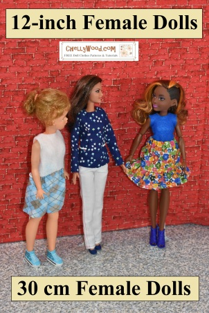 Click here for the directory designed to help you find FREE printable sewing patterns for 12-inch (30 cm to 30.5 cm) doll clothes: https://wp.me/P1LmCj-GeQ