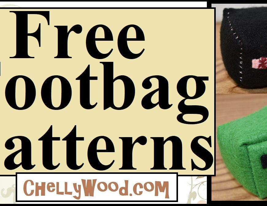 This image is the header for a youtube tutorial video that shows you how to make a minecraft character hacky sack or footbag or footsack toy using felt and sewing needle with thread. It's an easy project for kids who love minecraft toys. The pattern is offered as a free pdf printable sewing pattern.