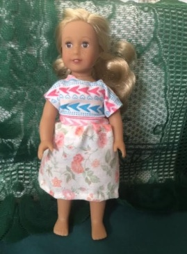 Skirt and Tee for 6 Inch American Girl dolls by Jeretta B