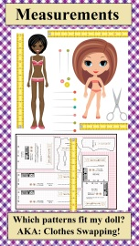 "As part of the ""Gallery"" or Home page of ChellyWood.com, this image, when clicked, will take you through links to a page where you can find out whether or not your doll can swap clothes with other dolls. On ChellyWood.com, we call this #TapeMeasureTuesday"