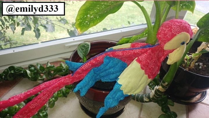 Parrot Zipper Pouch by Emily D from Etsy Store Critical Hit Designs