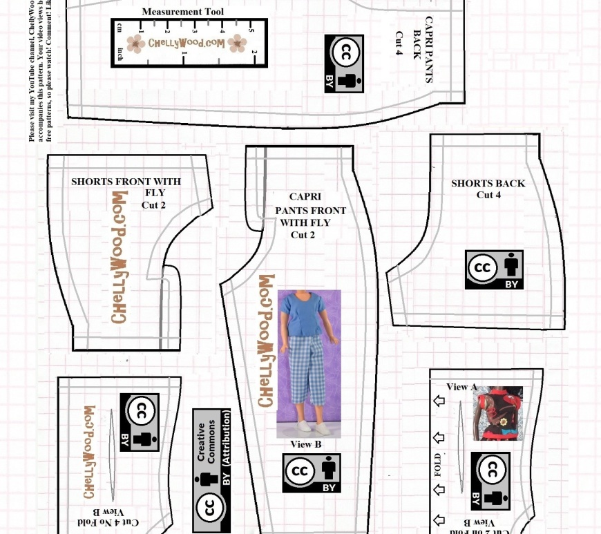 "This is a FREE printable sewing pattern for two different styles of shirt to fit 11 inch or 11 and a half inch dolls like the Queens of Africa dolls, Greenbrier fashion dolls, and many other fashion dolls in this size range. The two styles of ""springtime wardrobe"" shirts include a sleeveless top and a shirt with short sleeves."